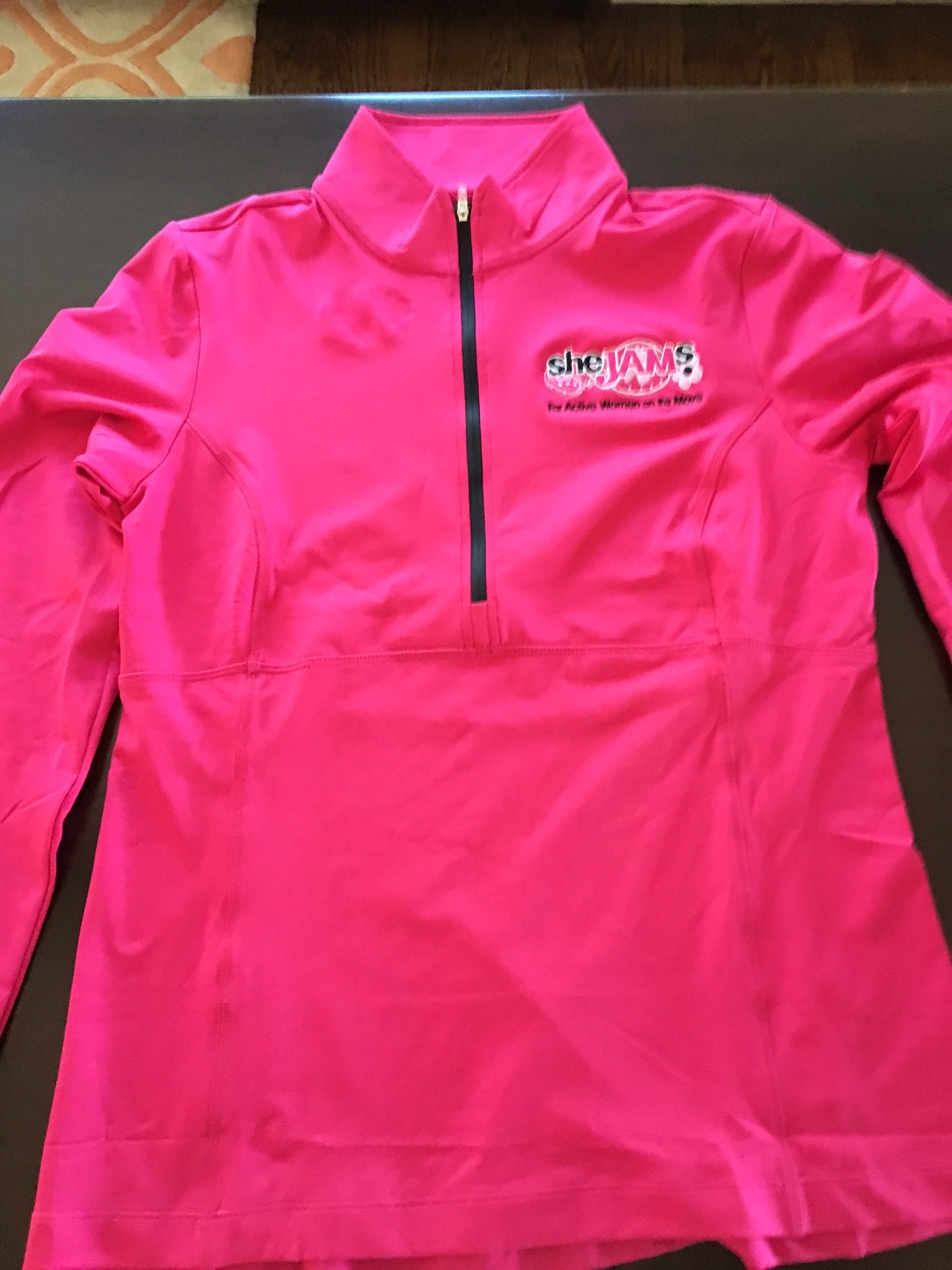 Pink Long Sleeve 1/4 Zip