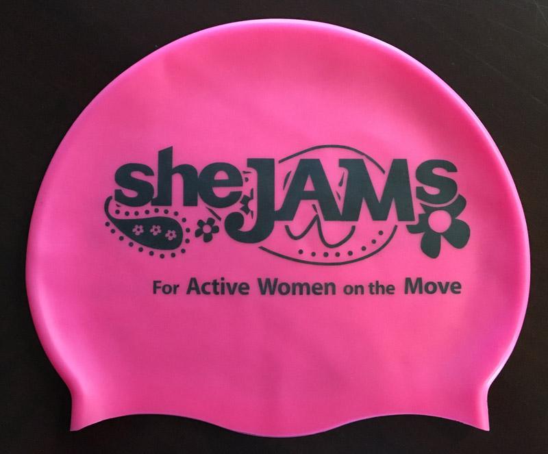 Silicone sheJAMs Swim Cap